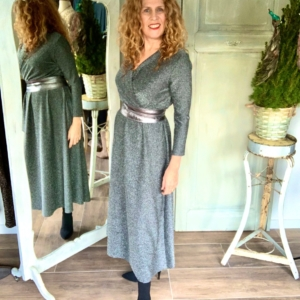 Zilveren maxi jurk Your Personal Shopper