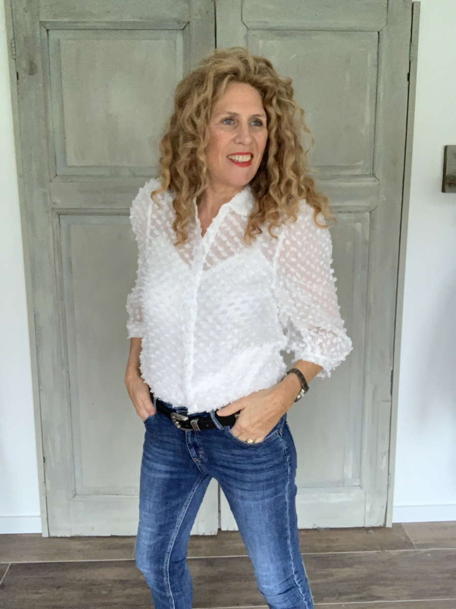 witte overhemd blouse dames met pofmouw Your Personal Shopper