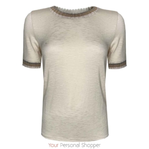 beige t shirt met korte mouw your personal shopper