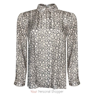 kraag blouse met grafische print Your personal shopper