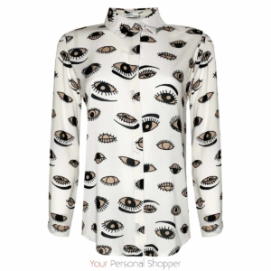Blouse met print ogen Your Personal shopper