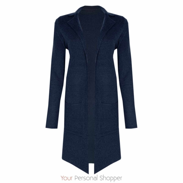donkerblauw vest lang Your Personal Shopper