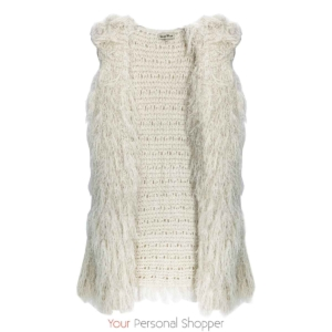 pluizig vest off white Your Personal Shopper