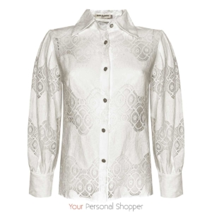 Witte blouse met kant Your personal Shopper