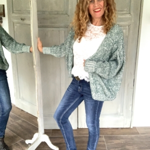 witte kanten dames top gebreid vest groen en wit your personal shopper