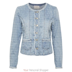 lichtblauw jeans jack RobinaCR-Denim-Jacket Your Personal Shopper