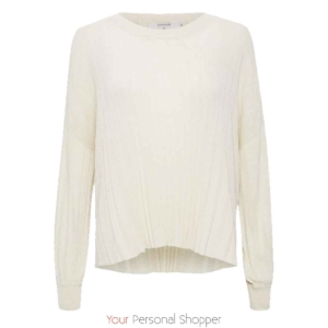 off white katoenen trui SallyCR pullover Your Personal Shopper