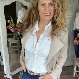 Witte dames overhemd bloes met kant Your Personal Shopper