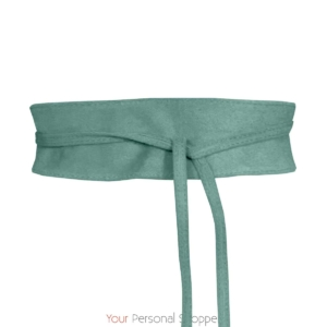 ceintuur suede turquoise Your personal shopper