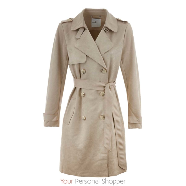 faux suede trenchcoat Rino & Pelle Your Personal Shopper