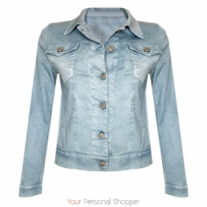 lichtblauwe spijkerjas gewassen denim Your Personal Shopper