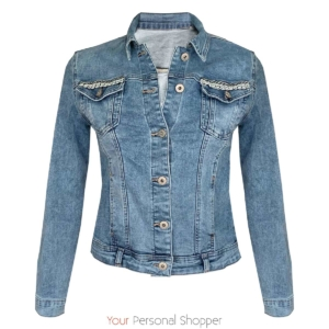 Denim jas met wit kant Your personal shopper