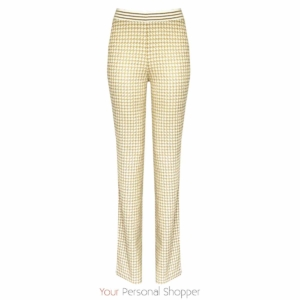 pied de poule roomkleurige flared broek br&DY Your Personal Shopper