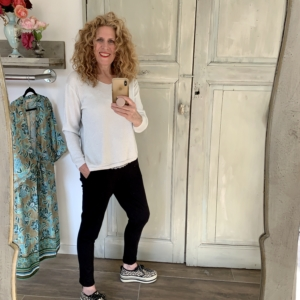 zilveren v-hals trui dames Your personal shopper
