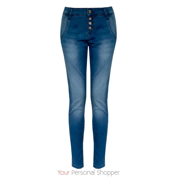 Comfy summer jeans met knopen Your Personal shopper