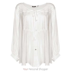 witte oversized blouse met lange mouw your personal shopper
