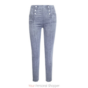 Grijze dames jeans met knopen Your Personal shopper
