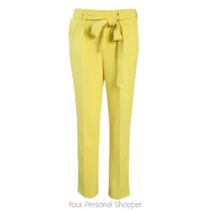 Gele dames pantalon van stretch stof your personal shopper