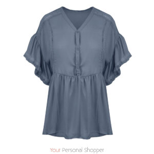 Lavendel blauwe linnen dames blouse Your Personal shopper