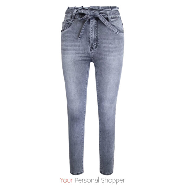 High waist grijze dames jeans your personal shopper
