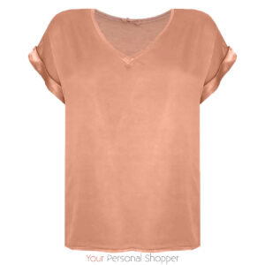 shirt abrikoos satijn look your personal shopper