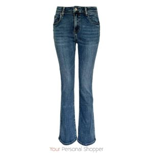 Flared jeans midden blauw your personal shopper