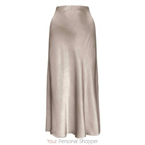 Zijden maxi rok taupe your personal shopper