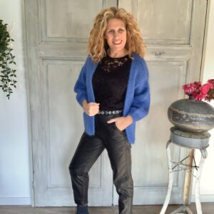 zwarte dames pantalon imitatie leer Your Personal Shopper
