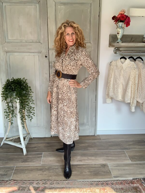 Maxi jurk met panter print your personal shopper
