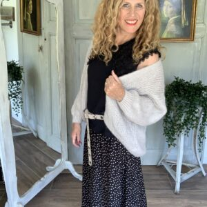 zwarte maxi rok met elastieke band Saint Tropez Your Personal Shopper