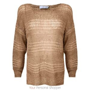 camel dames trui lange mouw lounge nine your personal shopper