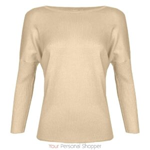 beige basic dames truitje Saint Tropez your personal shopper