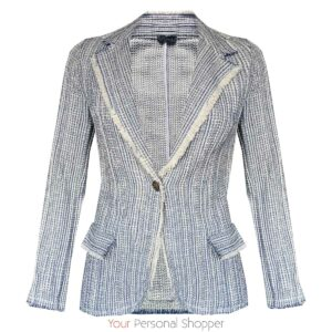 Blauw wit dames colbert met stretch your personal shopper