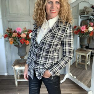 dames colbert met grote ruit Your Personal Shopper