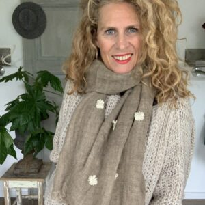 Luxe bruine dames shawl Your Personal Shopper
