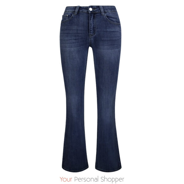 Dames flared jeans midden blauw Your Personal Shopper