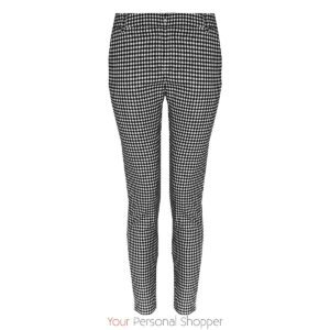 zwart wit ruiten skinny broek your personal shopper