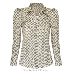 Klassiek dames blouse met Chanel print your personal shopper