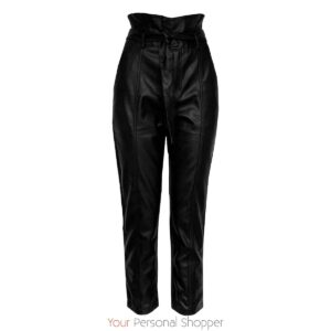high waist dames broek leder look Your Personal Shopper