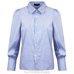 Blauwe overhemd blouse dames Your Personal Shopper