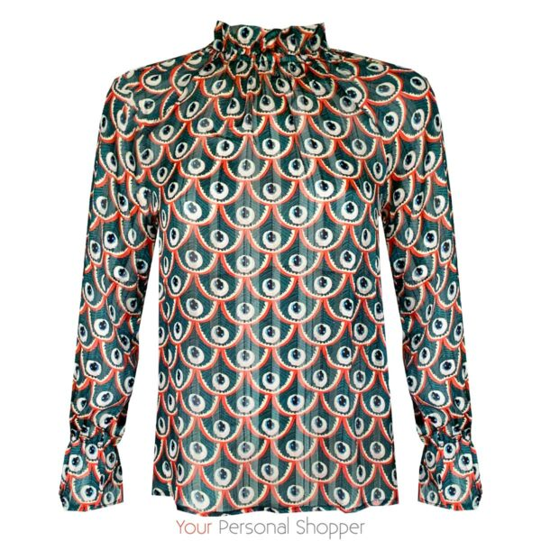 groene dames blouse met col your personal shopper