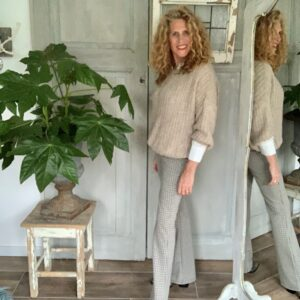 Geruite dames flared broek BR&DY Your Personal shopper