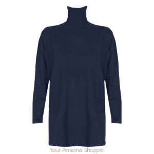 Donkerblauwe dames coltrui oversized Your Personal Shopper