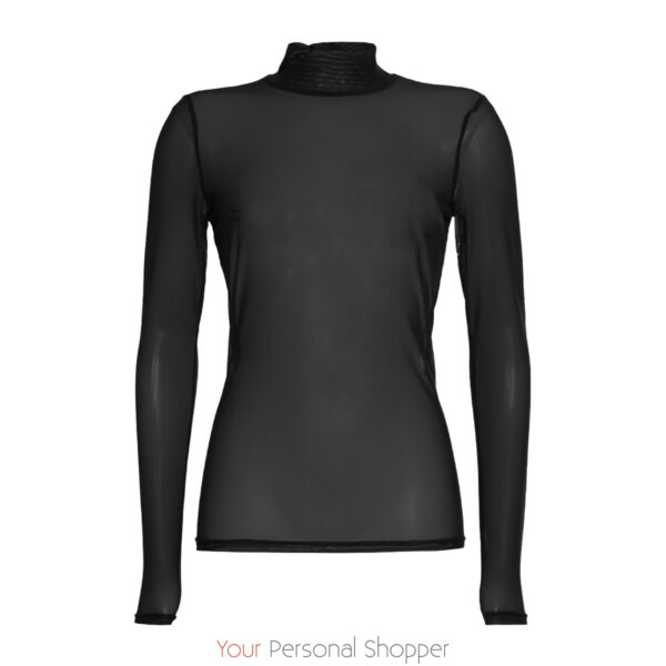 transparante turtle top in zwart BR&DY your personal shopper