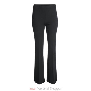 zwarte flared broek van stretch stof Your Personal Shopper