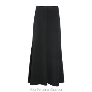zwarte maxi rok in gravelstof Your Personal Shopper