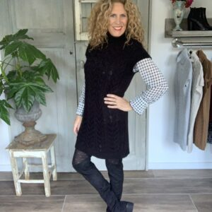 zwarte dames spencer met kabels Your Personal shopper