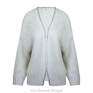 off white Gebreide losvallend dames vest Your Personal shopper