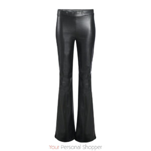 Zwarte lederboom flared broek BR&DY Your personal shopper