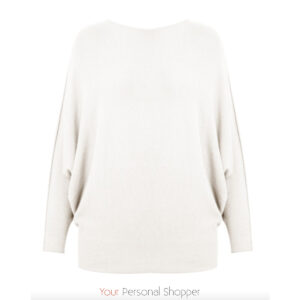 off white dames trui met vleermuis mouw in viscose Your Personal shopper